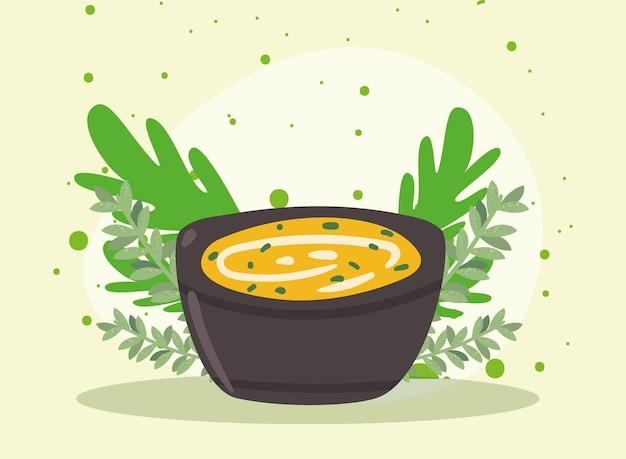 Sopa e folhas