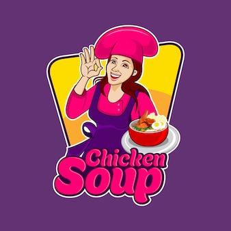 Sopa quente de frango