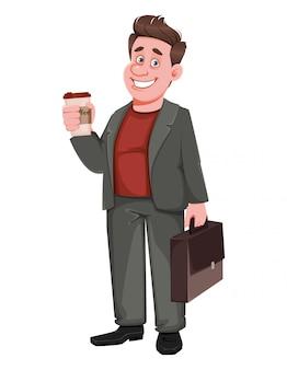 Sorridente empresário envelhecido médio