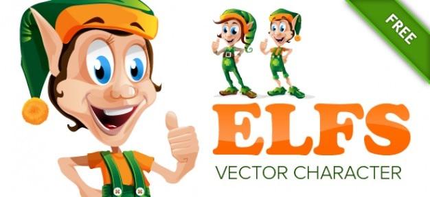 Sorridente personagem elfo
