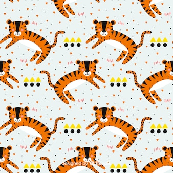 Sorrindo, tigre, padrão