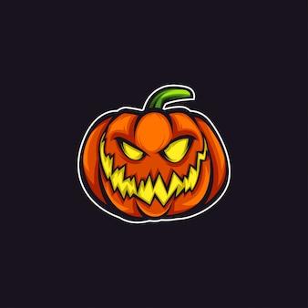 Sorriso mascote logotipo abóbora