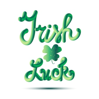 Sorte de irlandês lettring em trevo