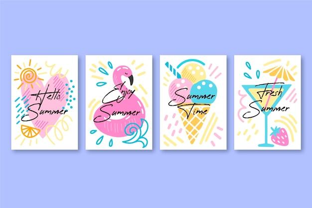 Sorteio de coleção de cartões de verão