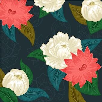 Sorteio de flores coloridas desenhadas à mão