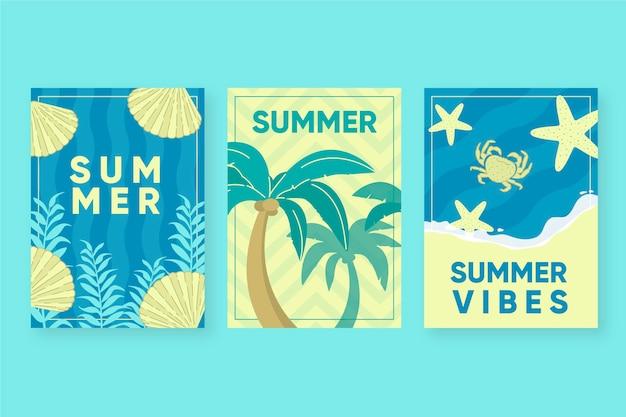 Sorteio de modelo de cartões de verão
