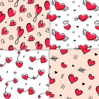 Sorteio de padrão de coração