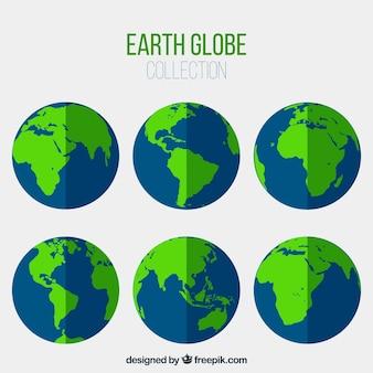 Sortido, azul, verde, terra, globos