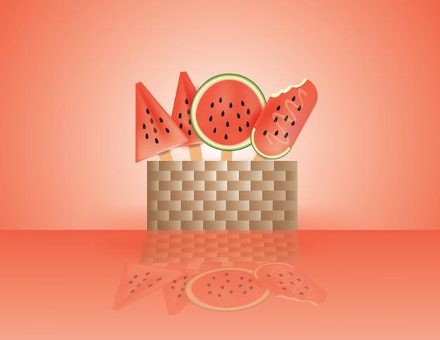 Sorvete de melancia