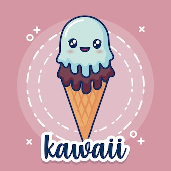 Sorvete kawaii