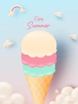 Sorvete para temporada de verão