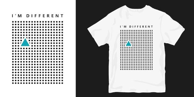 Sou merchandising diferente de camisetas da moda