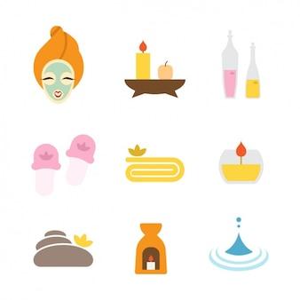 Spa coleção ícones