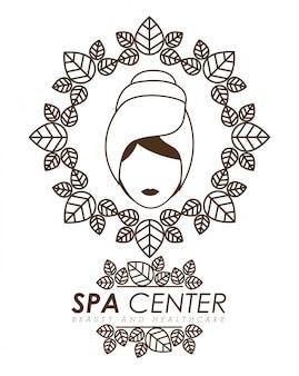 Spa design, ilustração vetorial.