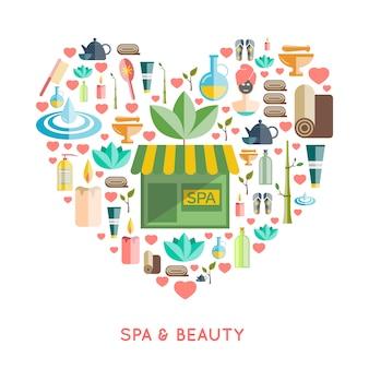 Spa e conceito de beleza