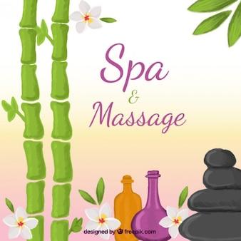 Spa e massagem fundo