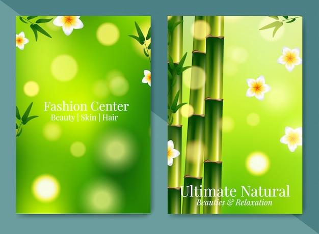 Spa minimalista e folheto de concepção de saúde.
