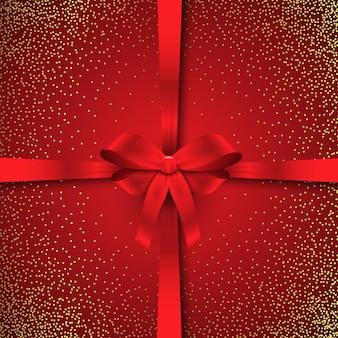 Sparkle fundo de fita de natal