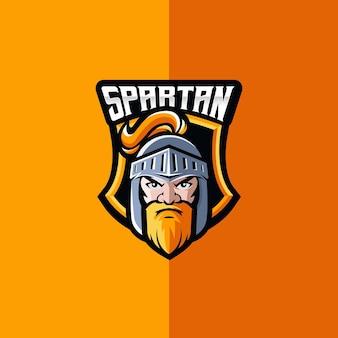 Spartan esport e logotipo esportivo