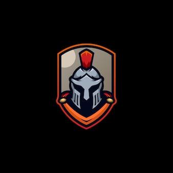 Spartan knight escudo armadura de soldado