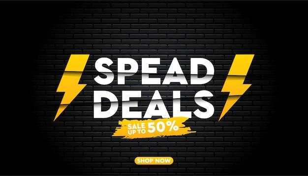 Spead deals template.