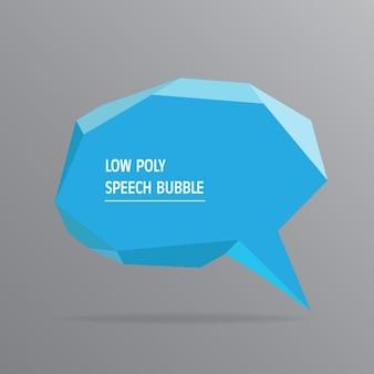 Speech bubble poligonal azul