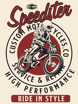 Speedster clássico das motocicletas