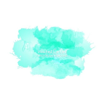 Splash turquois watercolor drop on white background