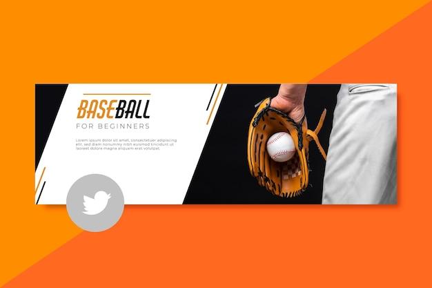 Sport twitter header template