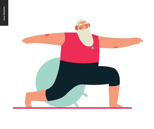 Sporting santa - ioga