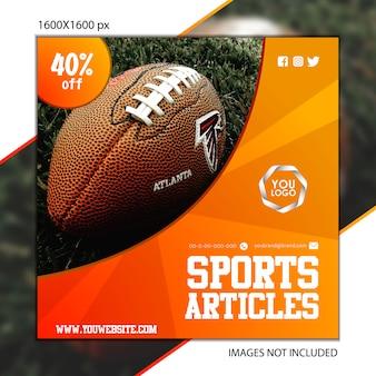 Sports publicação futebol para rede social
