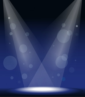 Spot lights no palco