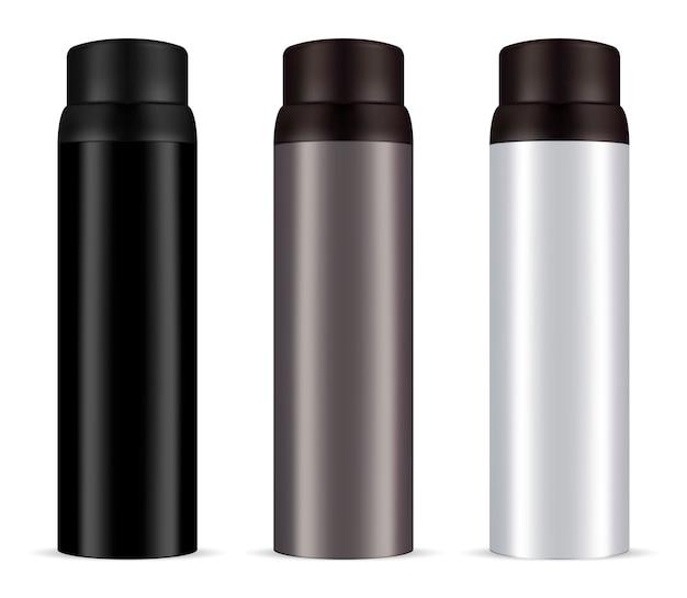 Spray de desodorante masculino de alumínio pode definir