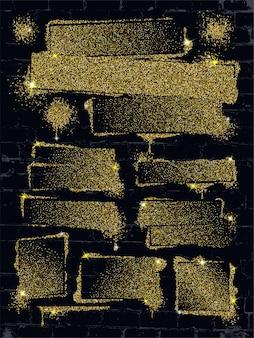 Spray de glitter grafite em spray de brilho de parede de tijolo