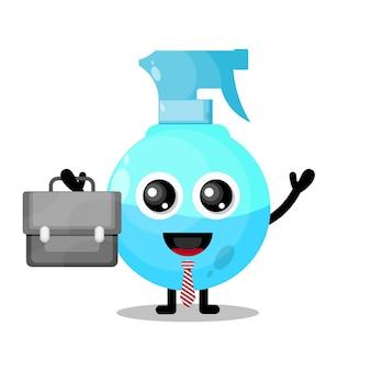 Spray funciona mascote de personagem fofo