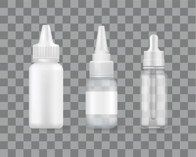 Spray nasal conjunto de frascos com tratamento remédio