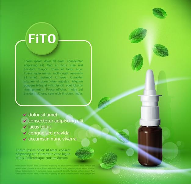 Spray nasal ee modelo de folhas voadoras