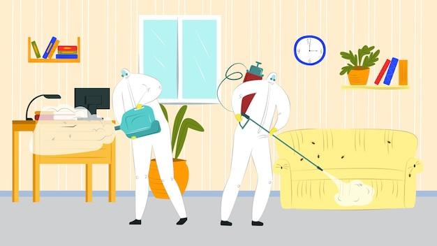Spray químico para controle de pragas contra ilustração de insetos