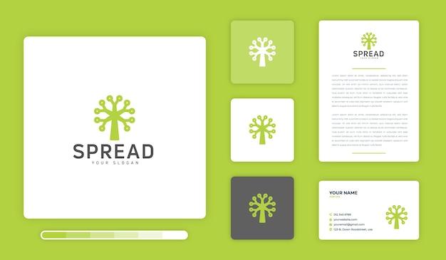 Spread logo design template