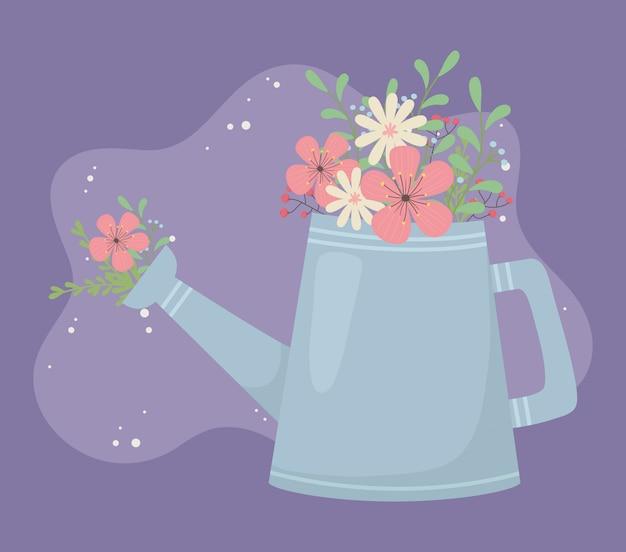 Sprinkler jardinagem flores e folhas decoração