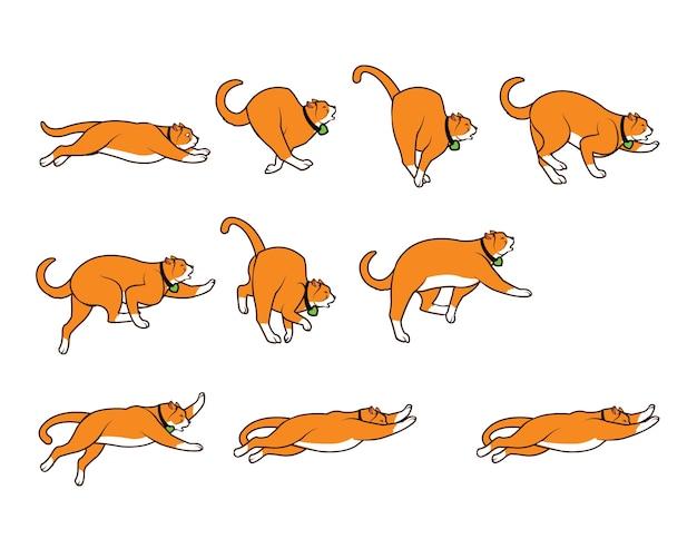 Sprite de animação de desenhos animados de gatos