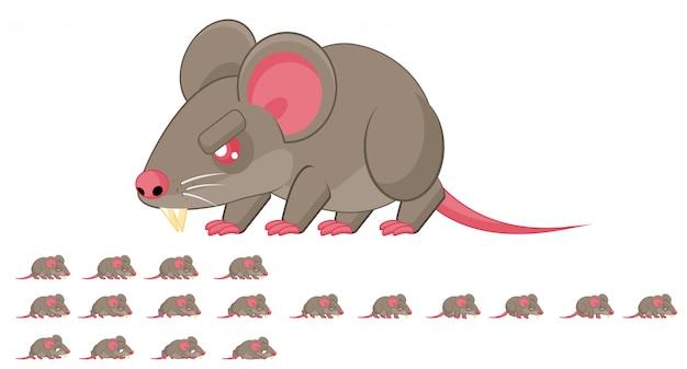Sprite de jogo de rato