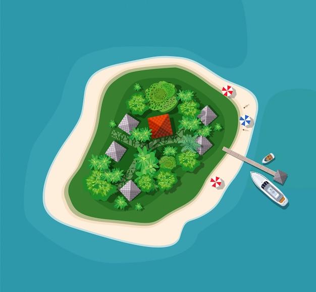 Sprite ilha vista superior