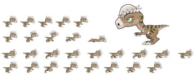 Sprites de jogo de dinossauro