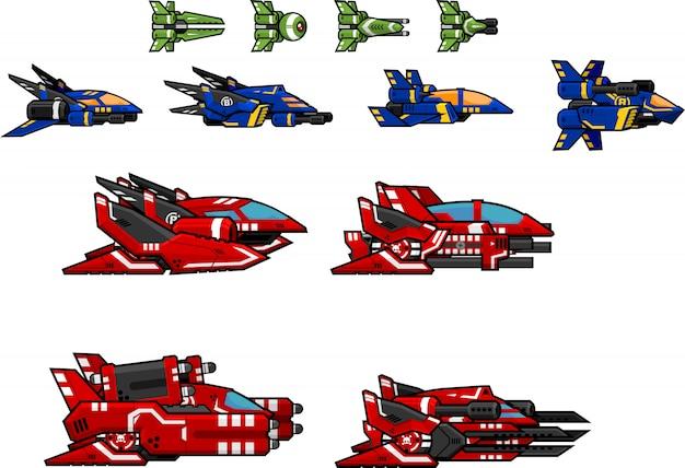 Sprites de jogo de nave espacial