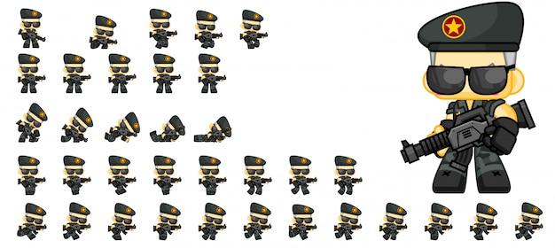 Sprites de jogo de soldado