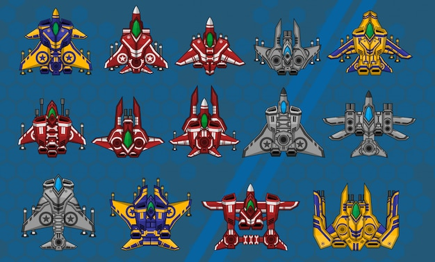 Sprites do navio espacial