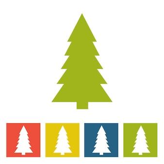 Spruce. ícone de ano novo. ilustração vetorial