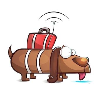 Spy dog - ilustração dos desenhos animados.