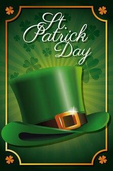 St patrick day leprechaun hat celebration tradicional poster